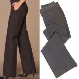 Express Editor Brown Trouser Dress Pants Stretch 8